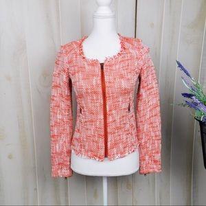 Joie Red Tweed Blazer Jacket